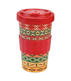 Kubek z bambusa, 500 ml, AZTEC ORANGE, WoodWay