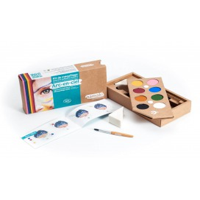 Farby do malowania twarzy Arc-en-ciel, Zestaw do makijażu dla dzieci, 8x2,5 g, COSMEBIO, Namaki