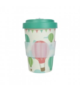 Kubek z bambusa, 400 ml, BALOONS green, WoodWay